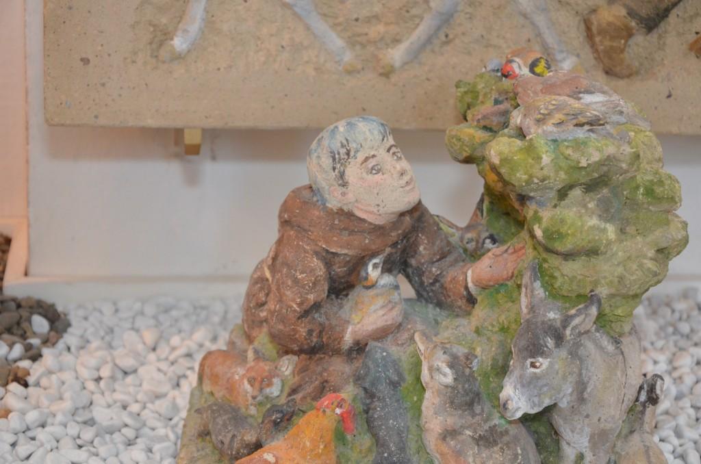 Franz von Assisi predigt den Vögeln.