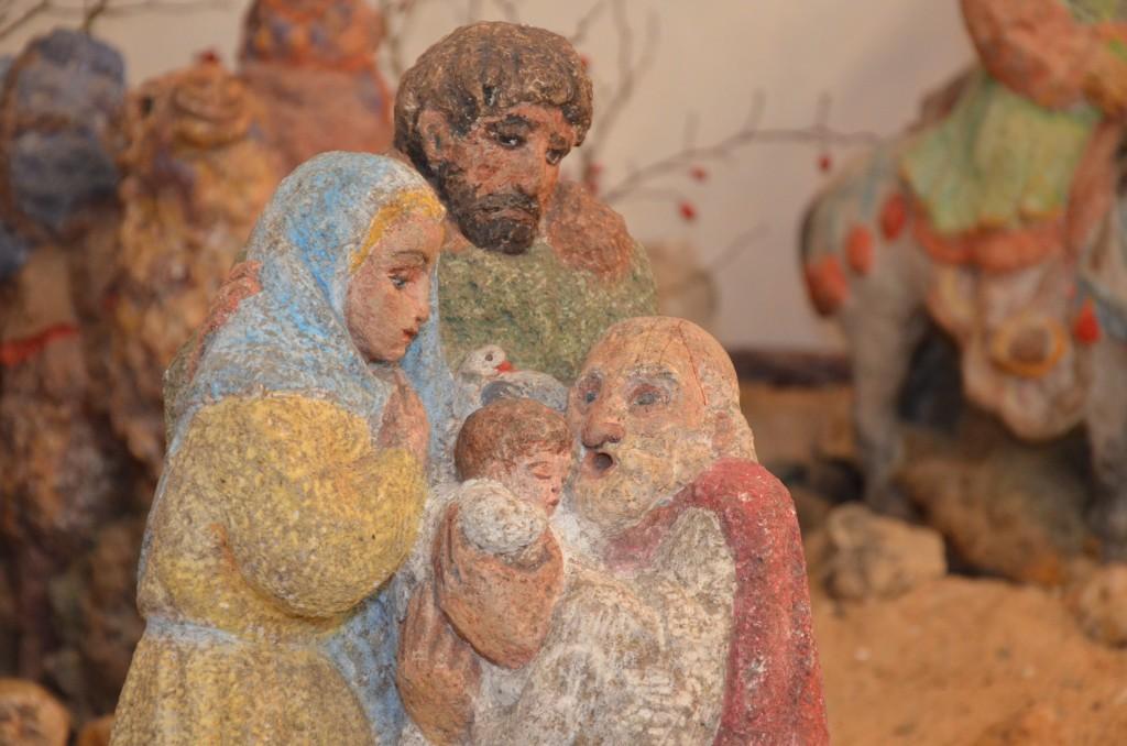 Die Darstellung Jesu im Tempel (nach Lukas 2, 22ff)